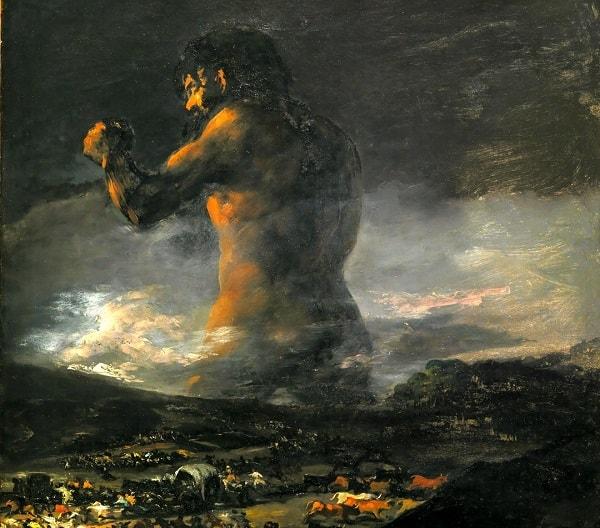 Colossus, Dev, Francisco de Goya, Prado Müzesi, Madrid
