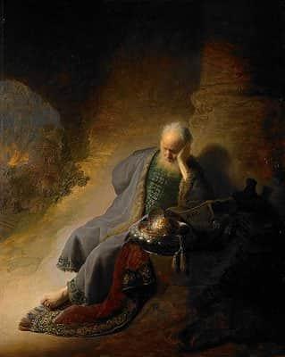 Jeremia Kudüs'ün Harab Edilmesine Üzülüyor / Rembrandt