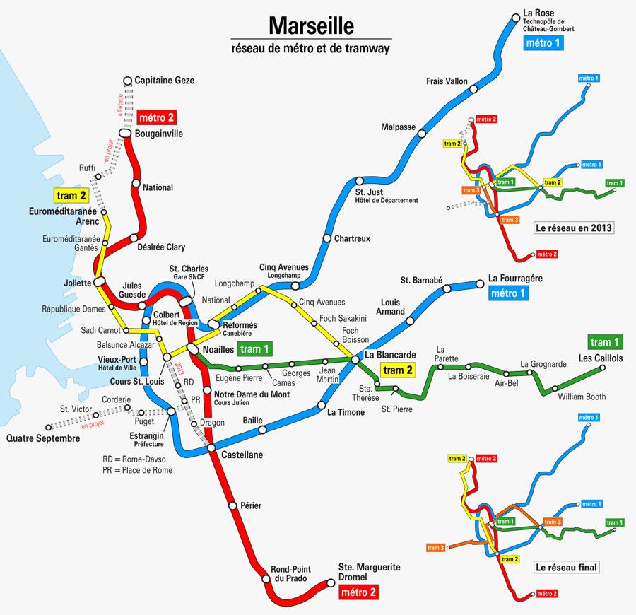 marsilya metro haritası