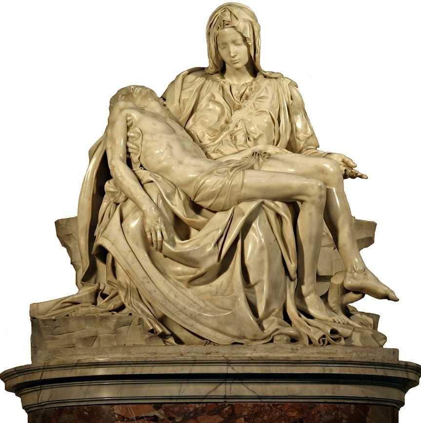 Roma, San Pietro Bazilikası, Michelangelo Pieta Heykeli