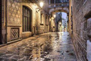 barselona eski şehir, gotik mahalle, gotic quarter
