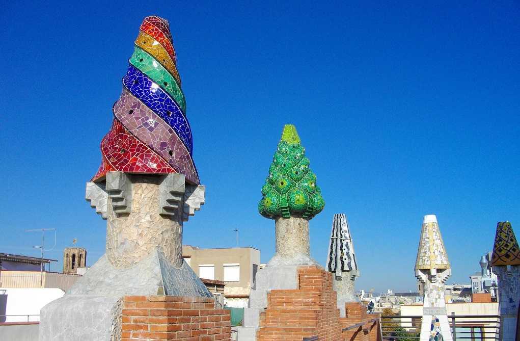 la rambla caddesi, barcelona, güell sarayı