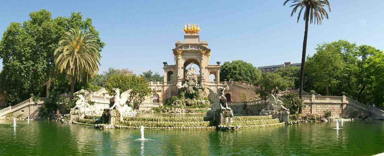 Barcelona, ciutadella Parkı, font de la cascade, şelaleli havuz