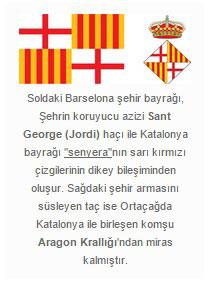 Barselona'nın bayrak ve arması
