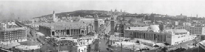 barcelona'nın tarihi, plaça de espanya