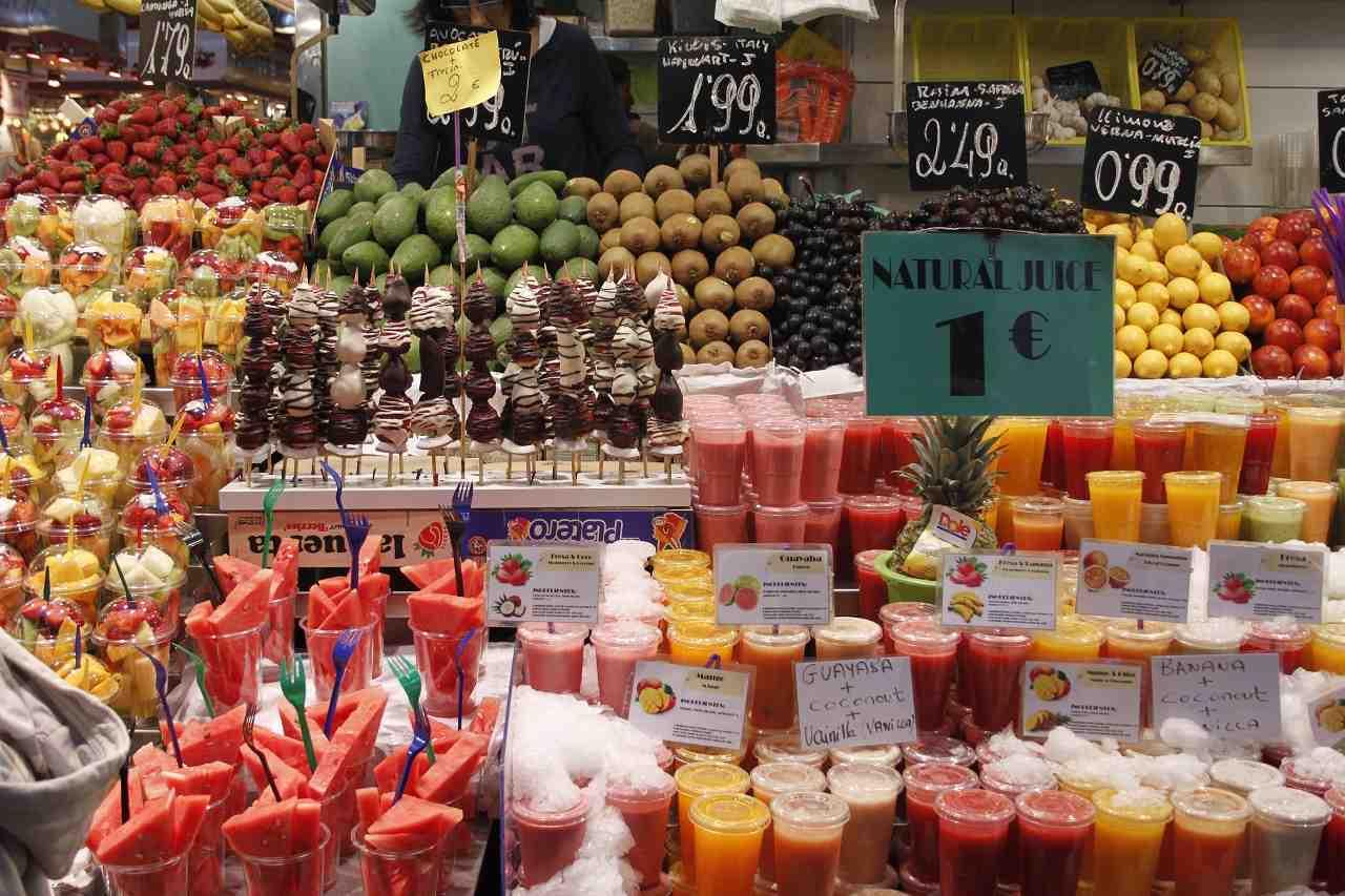 barselona açık hava pazarı boqueria