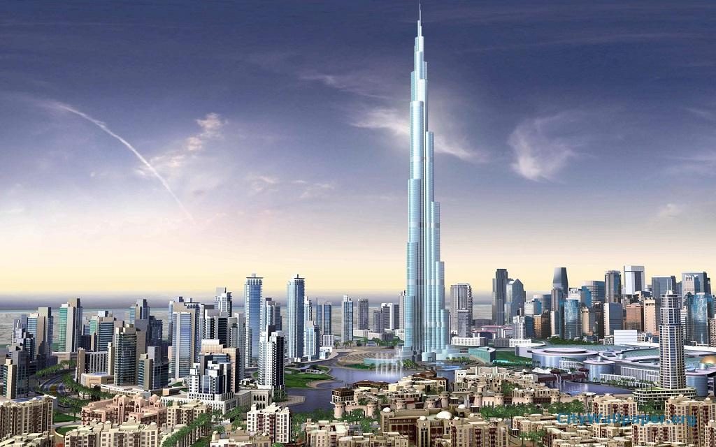 Burj Khalifa Dubai, Burj Khalifa, das höchste Gebäude der Welt