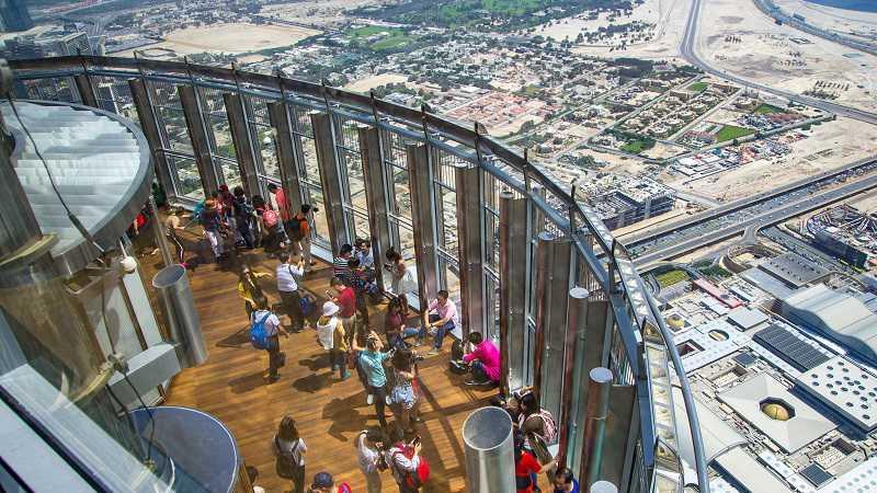 burj al khalifa Dubai Obersten Etage Buchen