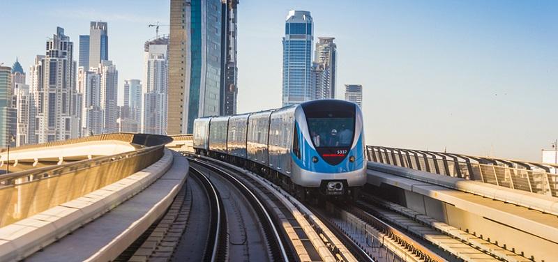 Dubai offentlig transport og nærmeste metrostasjon til Burj Khalifa og Dubai Mall