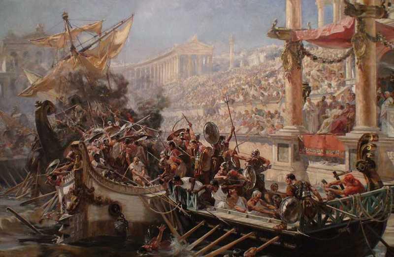 colosseum naval battle