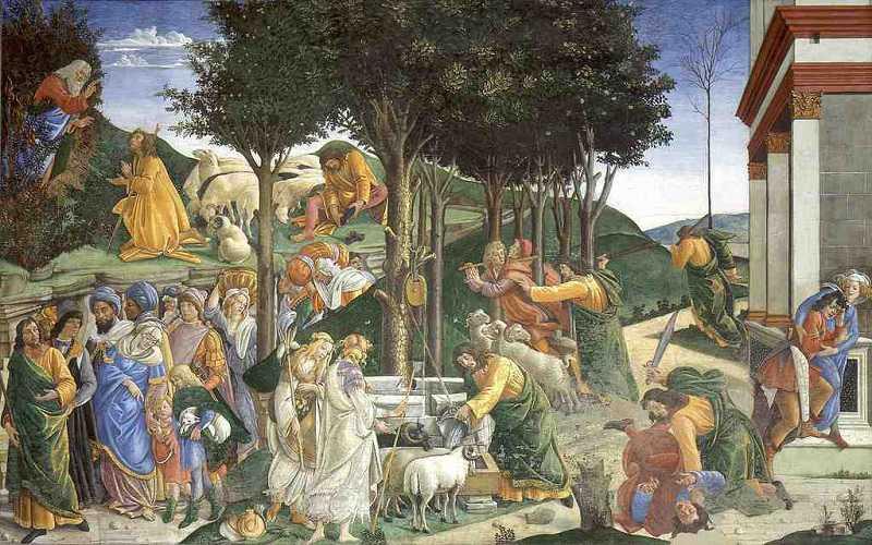 berühmte Wandgemälde in der Sixtinischen Kapelle