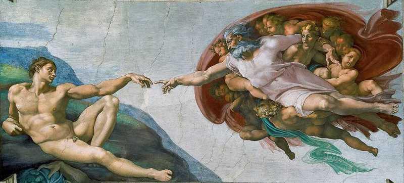 Die Erschaffung Adams von Michelangelo , Sixtinische Kapelle