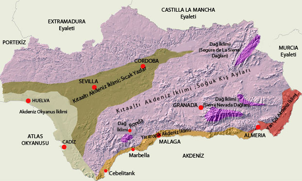 Endülüs Haritası