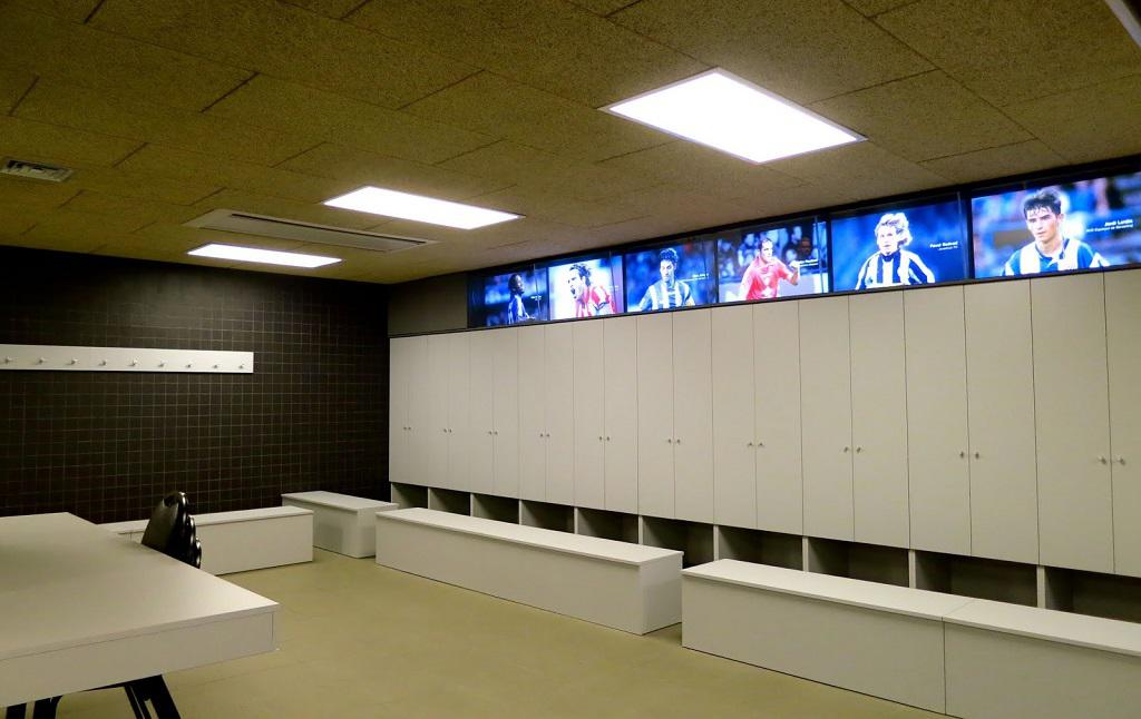 Locker Room Of The Fc Barcelona Players