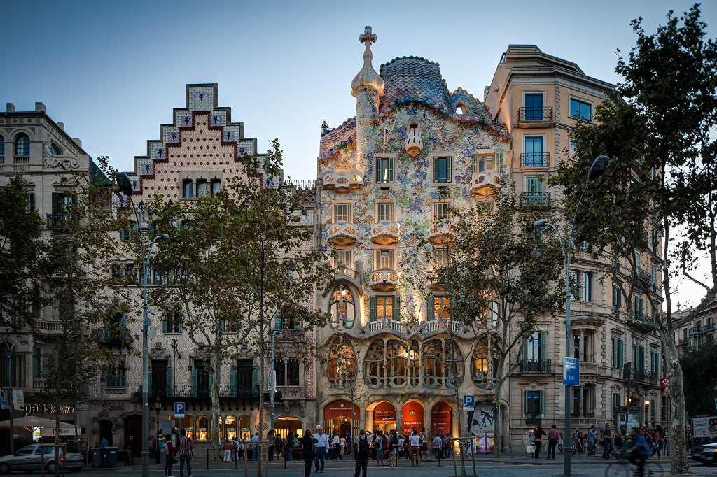 Casa Batllo, Barselona, Gaudi, Barselona, Modernizm, Modernisme, Modernista