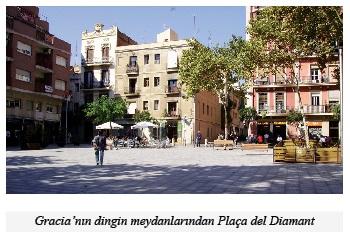 Barcelona, Gracia Semti, meydanlar