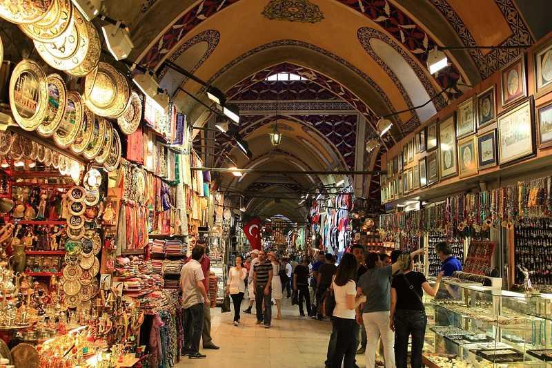 winkelen in de grote bazaar istanbul