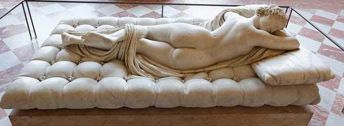 hermafrodito durmiendo, masterpieces en louvre
