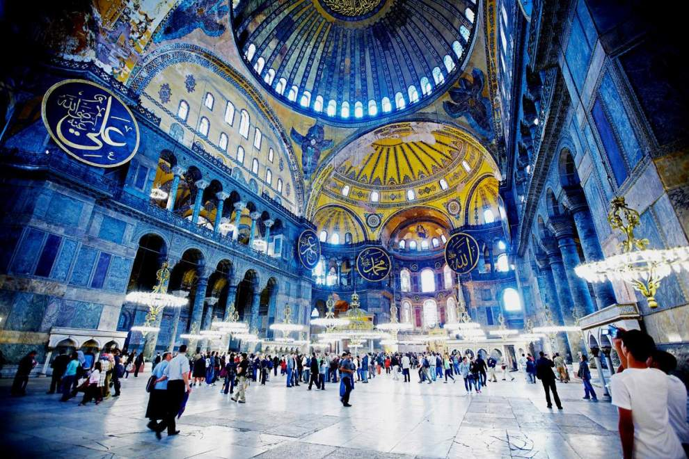 istanbul city tour, visiting hagia sophia with private guide