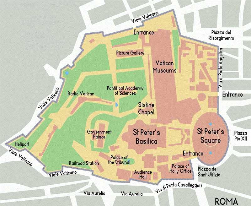 Karte von Vatikanmuseen