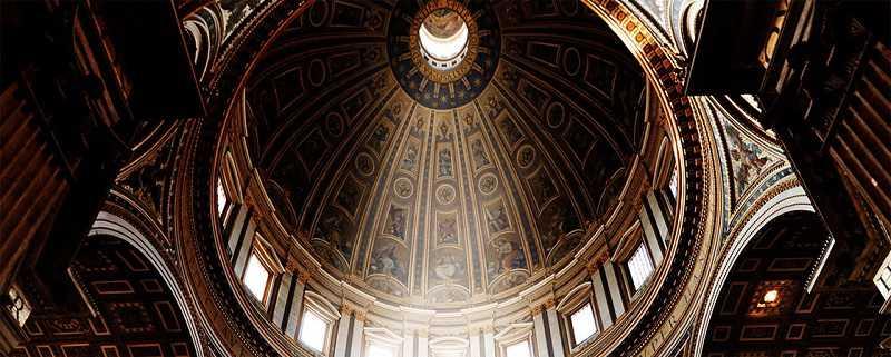 kuppel der san peters basilika vaticanstadt