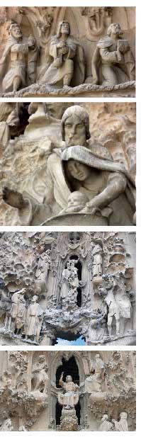Barselona La Sagrada Familia Kilisesi, Doğum Cephesi, Bitmeyen Kilise, Gaudi, Barcelona