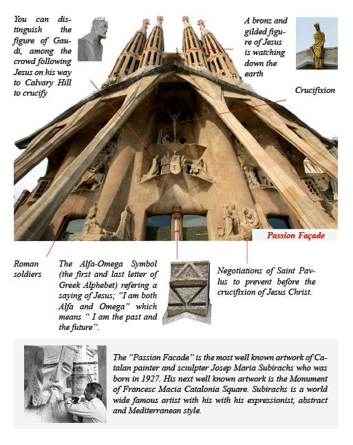 The architecture style of subirach in passion facade in la sagrada familia