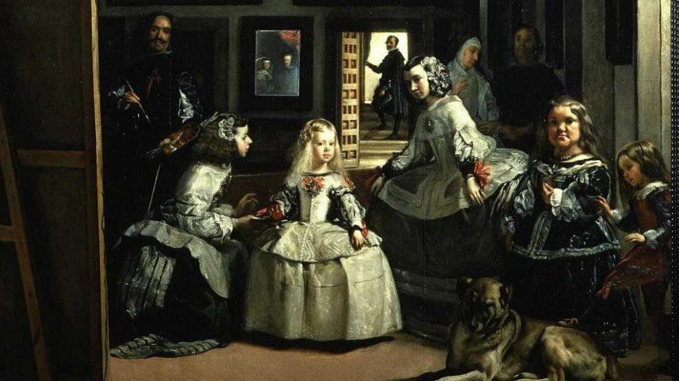Pintura Las Meninas de Valazquez En Museo Prado Madrid