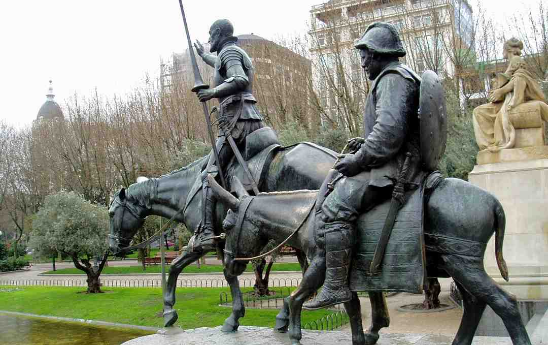 Madrid, Cervantes, Don Kişot Anıtı