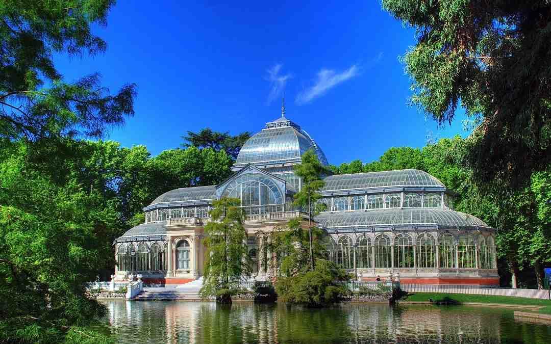 retiro parkı, palacio de cristal, madrid, kristal saray