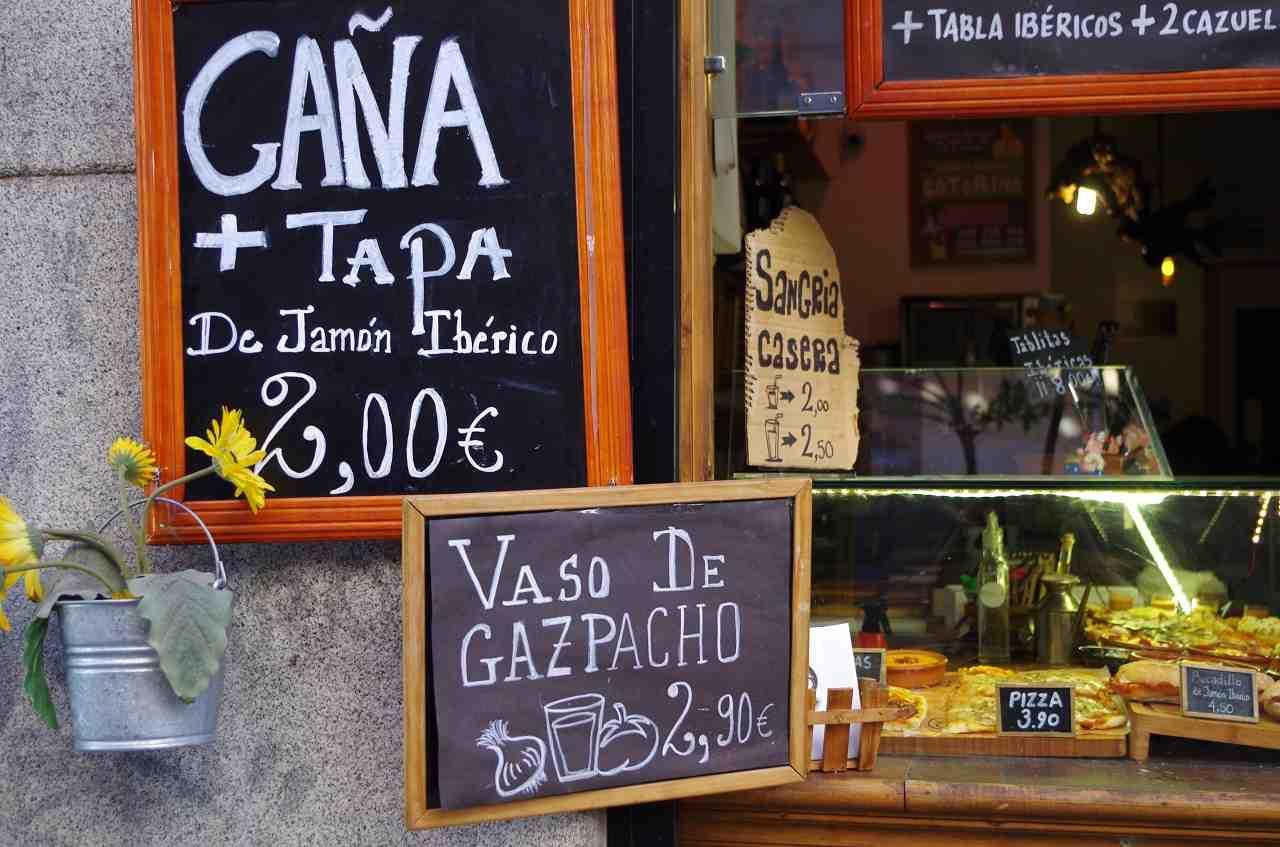 madrid'de yaşam, tapas bar
