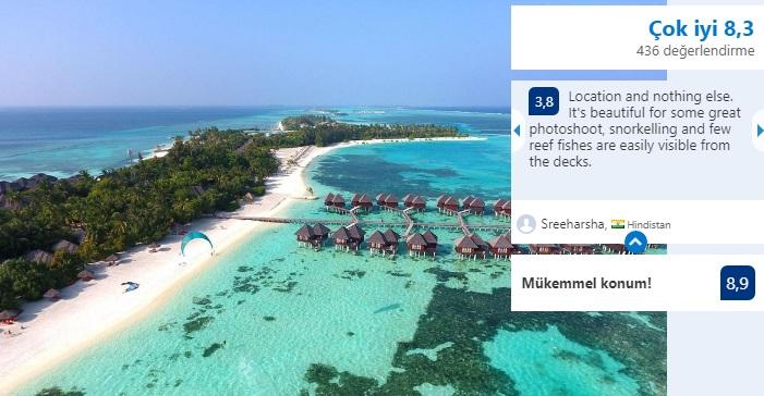 maldivler en güzel villalar