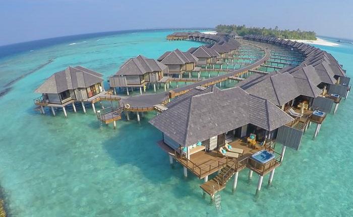 maldivler su üzeri bungalovlar