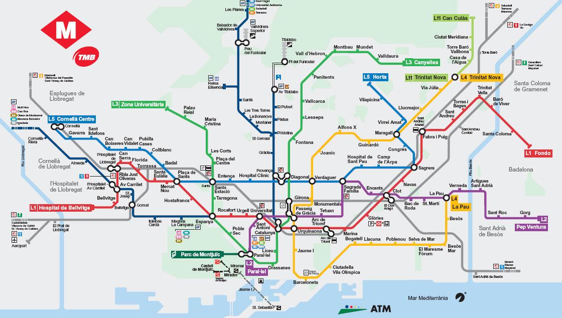 Barselona metro haritası