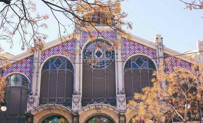 valencia mercat central, pazar yeri