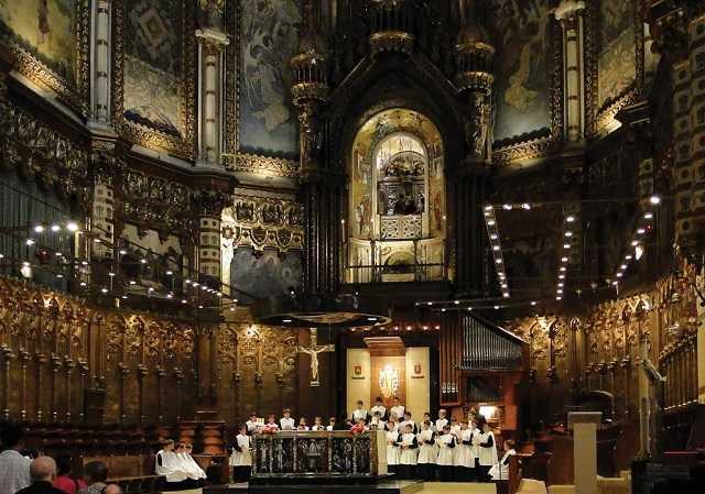 montserrat manastırı, çocuk korosu, bazilika