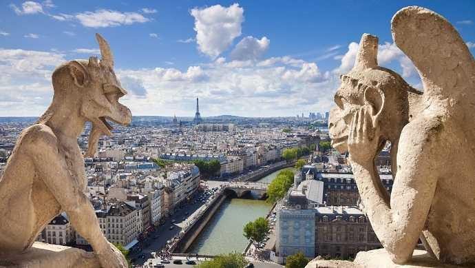 """Paris gezilecek yerler """"notre dame katedrali"""""""