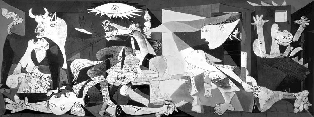 madrid, arte reina sofia müzesi, guernica, picasso tablosu