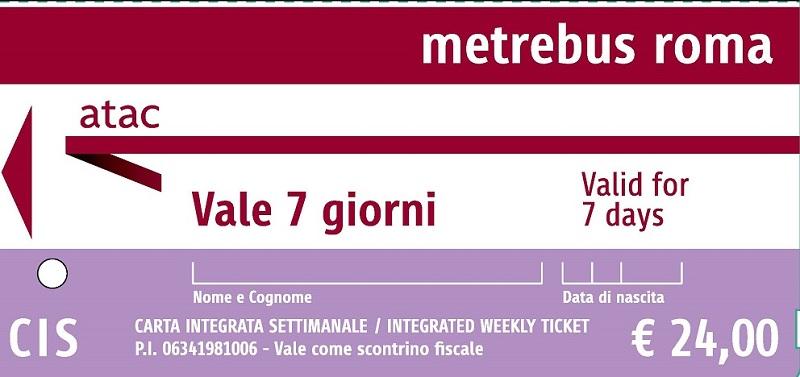 roma metro bileti fiyat