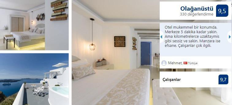 kamares lägenheter, rum med kök och utsikt över calderan