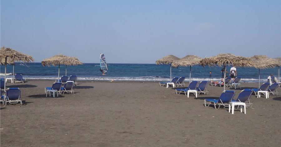 santorini plaj, monolithos plajı