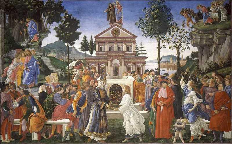 Die Versuchung Christi durch den Teufel, Sandro Boticelli