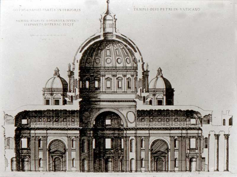st peters basilica michelangelo project