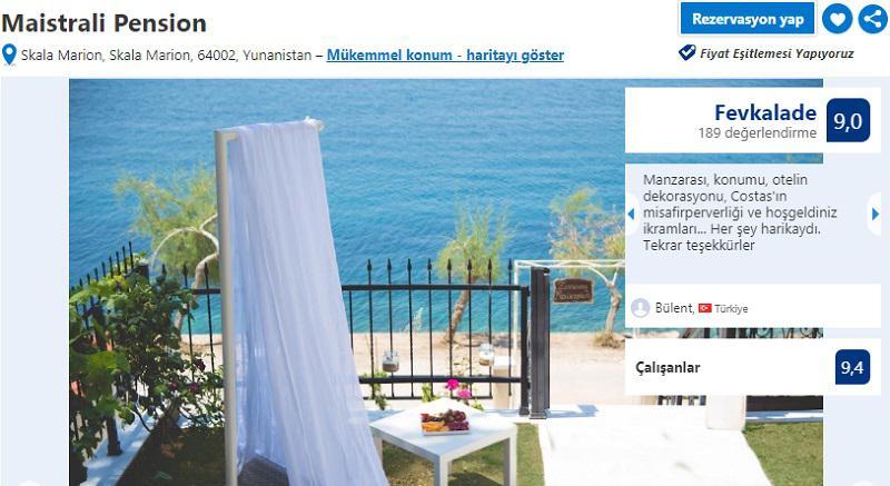 thassos adası en iyi oteller