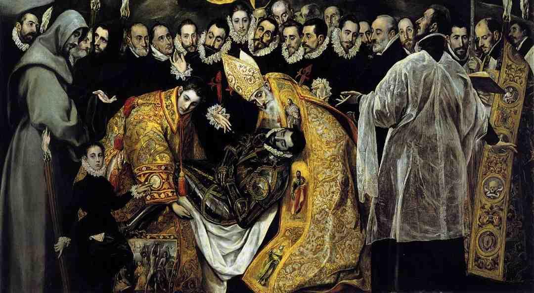 El Greco, Toledo, Santa Tome, Orgaz Kontunun Cenaze Töreni, Gömülmesi