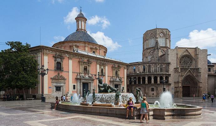 Plaça Virgen, Katedral, Almoina Çeşmesi