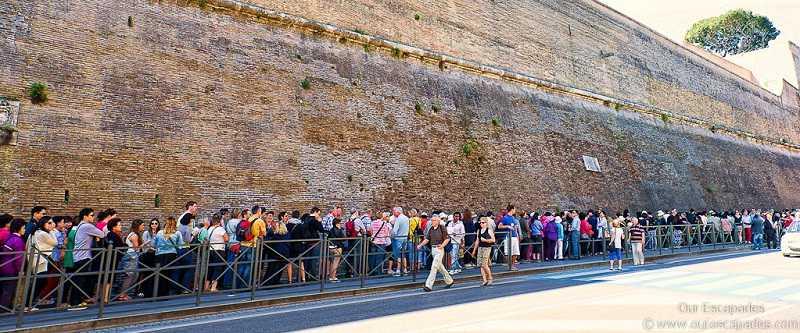 vatican entrance lines