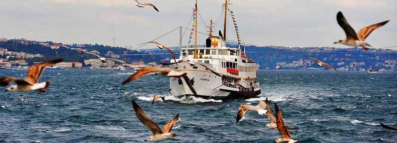 veerboot pas europa naar Azië continent, walking tour