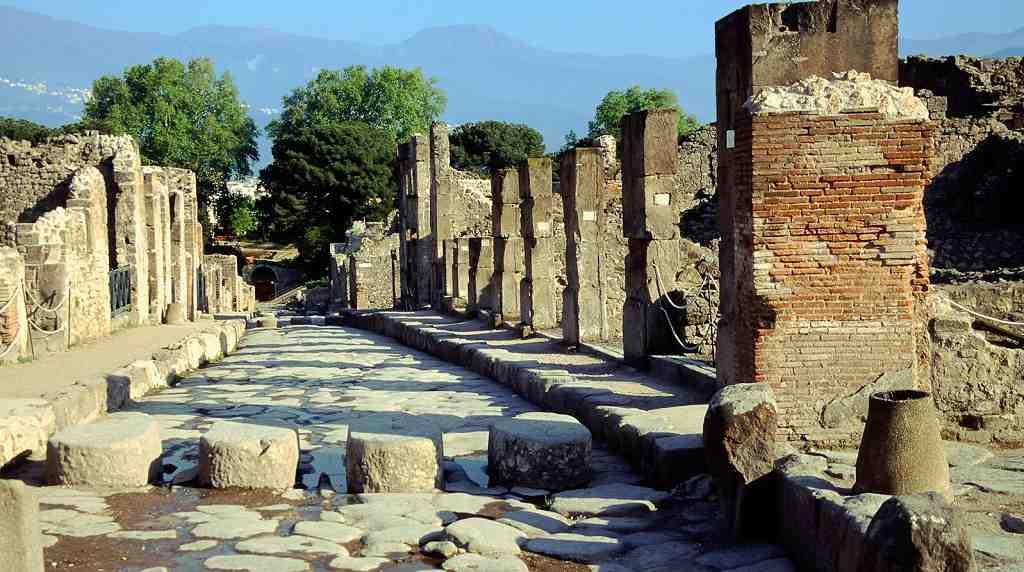 Los sitios importantes en Pompeya; Via Stabiana