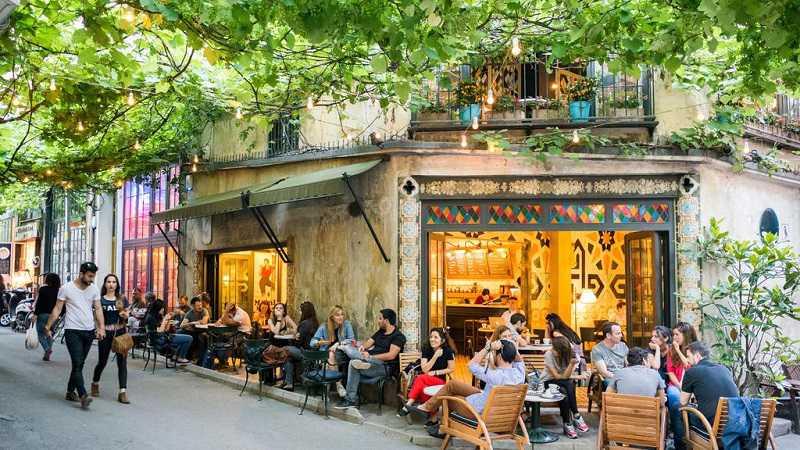 wandeltocht in Taksim, Beyoglu, Istiklal Street, Galata, Karakoy districten